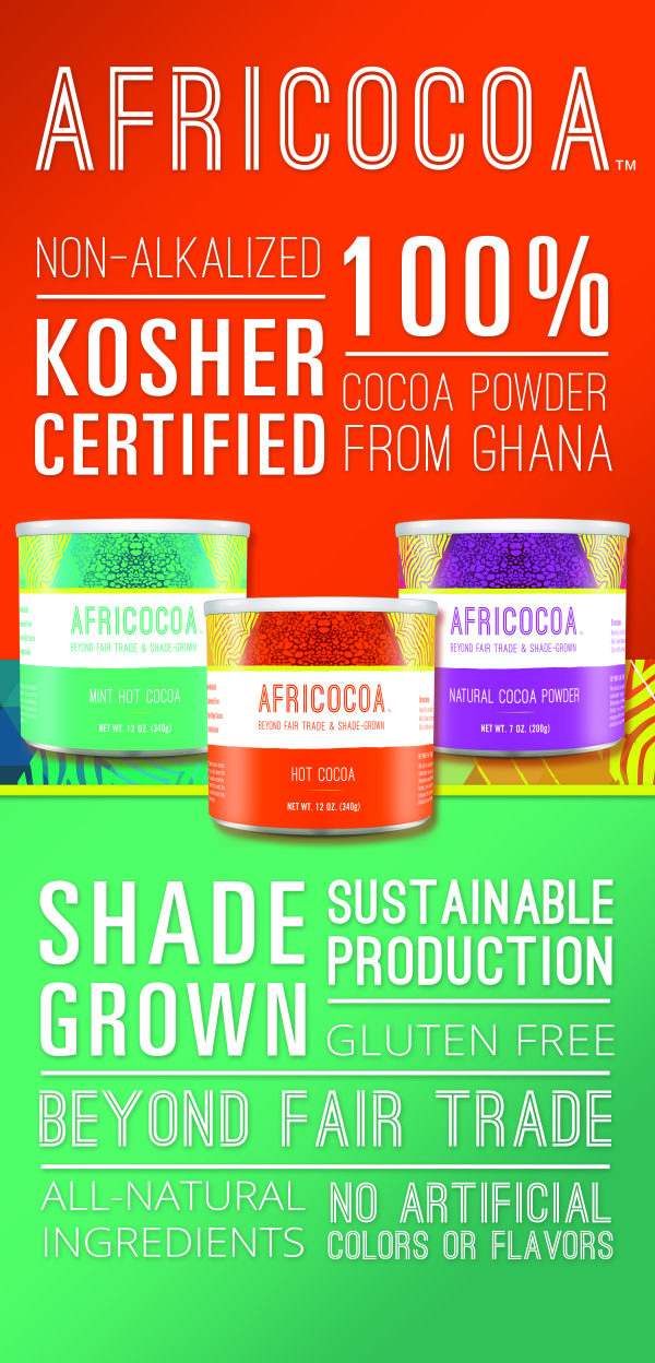 Shade-grown hot cocoa mix made from sustainable, small family farmers.